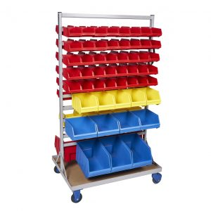 Fahrbarer Magazinwagen für Sichtlagerbox