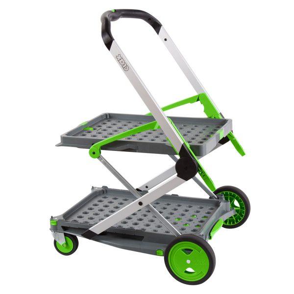 Clax trolley groen  inclusief vouwkrat
