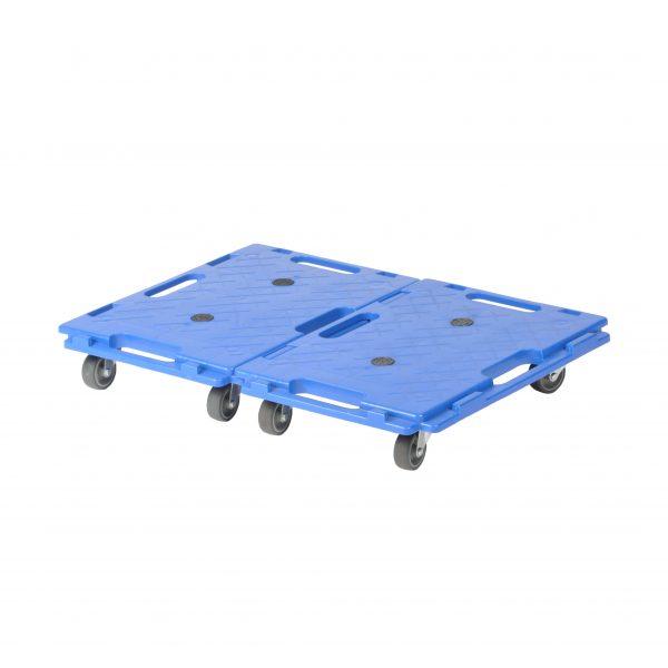 plateau mobile JC100 bleu emboitable (lot de 2)