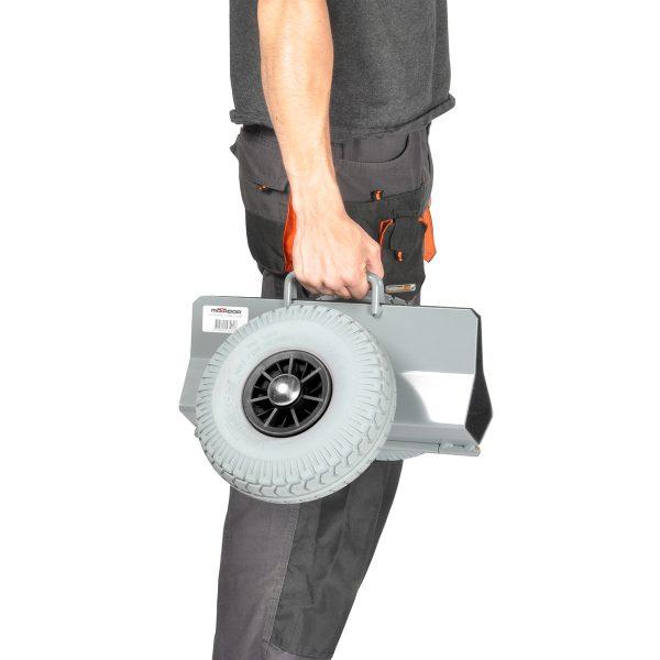 Rouleur porte panneaux 125 mm avec roues increvable