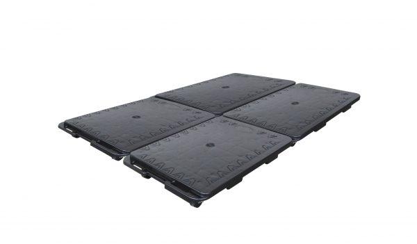 plateau mobile noir emboitable
