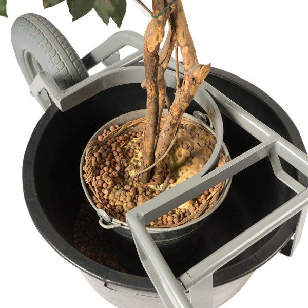 Brouette pour seaux 65 et 90 litres et arbres roue anti-crevaison
