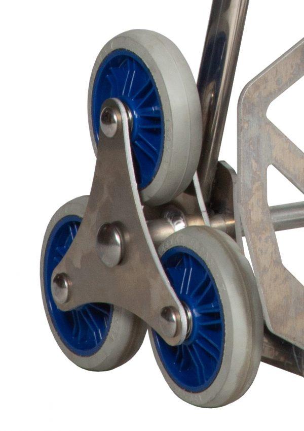 Diable KAIDAN en aluminium avec 6 roues pour escalier